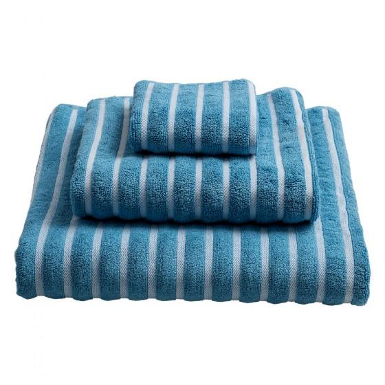 Ručnik cendre plavi/bijele pruge 50x100cm