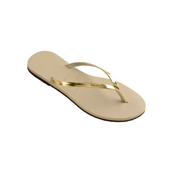 JAPANKE HAVAIANAS YOU METALLIC SAND GREY/LIGHT GOLDEN
