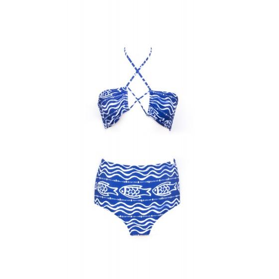 BIKINI ženski HAVANA BANANA plavi Aqua by Alex