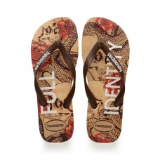 JAPANKA HAVAIANAS TOP TROPICAL BEIGE BROWN