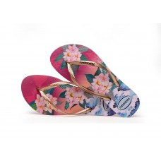 JAPANKA HAVAIANAS SLIM TROPICAL SUNSET HOLLYWOOD ROSE 3