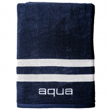 BEACH TOWEL double blue stripes 100x180cm - 450gsm