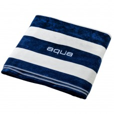 BEACH TOWEL family navy blue/white stripes 140x180cm - 600gsm