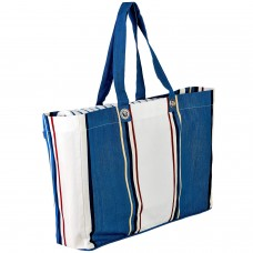 BEACH BAG red stripes