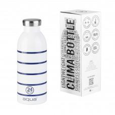 Clima water bottle Aqua thin navy striped
